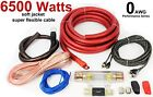 0 GAUGE Car Amp Amplifier Cable Sub Subwoofer Wiring Kit 6500 Watts GOOD QUALITY
