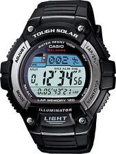 CASIO TOUGH SOLAR WORLD TIME ALARMS 120 LAP MEMORY MEN'S WATCH W-S220-1A NEW