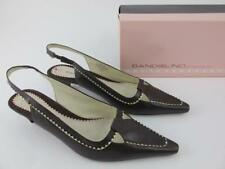 Bandolino Carly Leather Dark Brown Pointed Toe Womens Size 6.5 Slingback Pumps