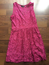 Women's/Ladies Dorothy Perkins Floral Lace Evening Dress in Burgundy - Size 16