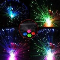LED Glasfaser Party Fiber Lampe Licht Nachtlicht mit 8 wechselnn Farben   s O3M6