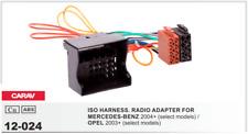 CARAV 12-024 Conector ISO OEM Radio Adaptador MERCEDES-BENZ 2004+, OPEL 2003+