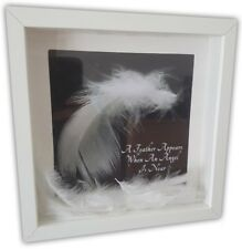 MEMORIAL BOX FRAME - Feathers - A Loved One Box Frame - Angels Feathers