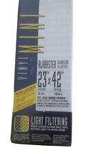 "Vibrance Light Filtering Alabaster 23"" x 42"" Mini Blind"