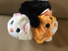 """Pop Out Pets - CAT Plush 3 In 1 White Black Orange ginger 8"""" tall"""