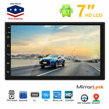 7'' Android8.1 Double 2 Din HD Quad Core GPS WiFi Car Stereo MP5 Player FM Radio