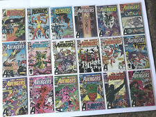 Avengers 241-261 Huge Run Lot of 22 Annual 13 14 HIGH GRADE nice glossy wboards