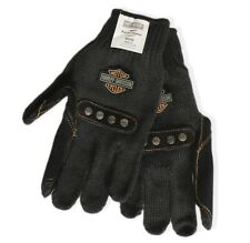 Harley Davidson Knit Gloves with Leather Palms made with Kevlar Size Men's XL