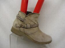 TEVA Tan Suede Side Zip Buckle Ankle Fashion Boots Bootie Size 8
