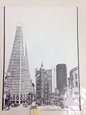 C F Stanbrough Lithograph Contrast on Kearney San Francisco Print Rare 11 x 14