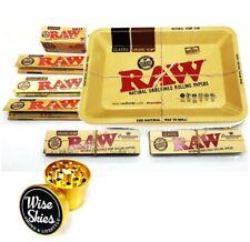 Smoking Set Raw Tray Smoking Rolling Papers with Raw Rizla Cone Tips Organic RAW