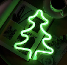 Green Christmas Tree Neon Light Signs LED Neon Art Decorative Battery USB Decor