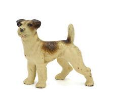 Vintage Cast Iron Fox Terrier Dog Toy Miniature, Hubley ?