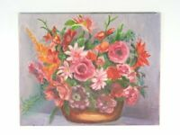 Vintage Still Life Oil Painting Mixed Flowers By Maria Stier Bouquet Of Flowers