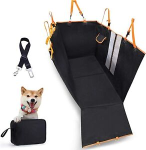 4-in-1 Dog Car Seat Cover, Detachable Waterproof Pet Seat Cover with Mesh