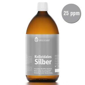 Kolloidales Silber (Silberwasser) 1000 ml, hochrein, hoch konzentriert: 25 ppm!