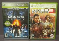 Mass Effect 1 & 2 -  XBOX 360 Games Rare Lot Complete Tested Working
