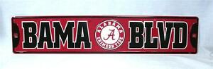 Alabama Crimson Tide Aluminum Street Sign BAMA BLVD Game Room Man Cave ROLL TIDE