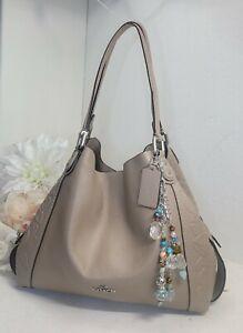 COACH 12034 Edie glovetanned leather TEA ROSE Shoulder Bag purse hobo handbag