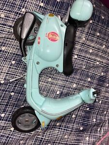 2002 Barbie Vespa Moped MotorcycleScooter BLUE Vehicle transportation unique