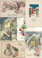 Vintage Christmas Postcard Lot Illustrated Cute Kids Postcard Lot of 20    01.19