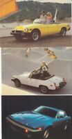 Original British Leyland Advertising 8 Postcard Set 1970s MG Triumph Jaguar 1978
