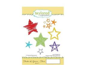 Taylored Expressions Rubber Stamp Set ~ STROKE OF GENIUS - STARS Celebrate ~110