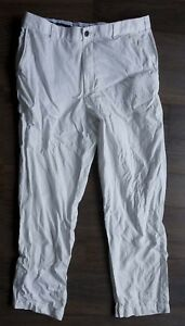 Brooks Brothers Clark Pants White Linen/ Cotton Size 40x29 *g0118a3