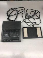 Vintage Panasonic RR-930 Microcassette Transcriber & RP-2692 Foot Pedal WORKS