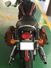 2 Side Pouch Brown Leather Motorcycle Side Pouch Saddlebags Saddle 2Bag Panniers