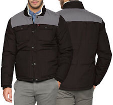 Levi's Para hombres Puffer chaqueta acolchada de medios mixtos Placket Dos Tono Abrigo Ropa de trabajo
