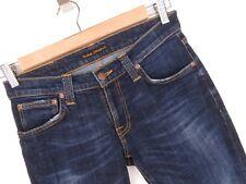 rp2016 Nudie Jeans Ajustado LONG JOHN org.calm azules Pantalones Elástico Talla