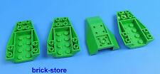LEGO cockpit Padiglione KEIL pietra costruzione inclinata NEGATIVO 4x6 verde /