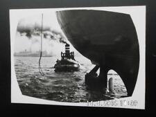 Rotterdam - Wereldhaven - Als de tros - s/w Ansichtskarte Schiff Hafen - ca60erJ