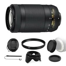 Nikon AF-P DX NIKKOR 70-300mm f/4.5-6.3G ED VR Lens + Bundle For DSLR Cameras