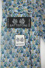 BATTISTONI 4 BARNEYS SILK LIGHT BLUE NECK TIE THANKSGIVING TURKEY OR PEACOCKS