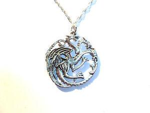 House Targaryen Pendant Dragons Game Of Thrones Khaleesi Daenrys Sigil Hydra