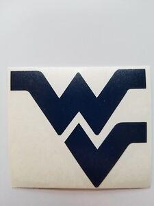 "West Virginia Mountaineers WV logo 3"" Blue or Yellow Vinyl Decal Car Window"