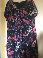 Joe Brown Navy /pink Floral Dress Size 26