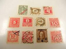 Vintage Austrian Stamps Used Lot of 11 Assorted