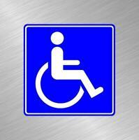 Handicap Vinyl Decal Sticker Car Truck Business Window Door Sign Disabled Senior