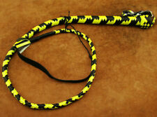 HEAVY DUTY BULLWHIP HUNTER YELLOW AND BLACK PU LEATHER 4 FOOT LONG BRAND NEW(202