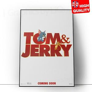 Tom and Jerry 2021 Animated Live Action Movie Poster Print | A5 A4 A3 A2 A1 |