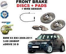 Per BMW X3 E83 3.0D 2006-2011 Set Dischi Freni Anteriori + Kit Pastiglie + Filo