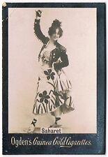 Vintage Ogden's Guinea Gold Cigarettes Saharet Tobacco Card
