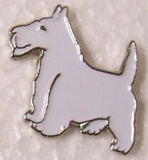 Hat Lapel Pin Scarf Clasp Dog Westie NEW