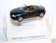 MICRO RIETZE HO 1/87 AUDI TT ROADSTER VERDE SCURO IN METALLO con