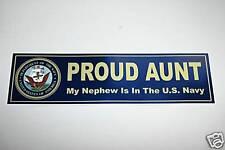 MY NEPHEW US NAVY Proud AUNT Decal Bumper Sticker