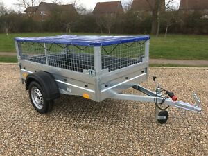 NEW car box trailer 7ft x 4ft with Mesh 750kg ALKO suspension