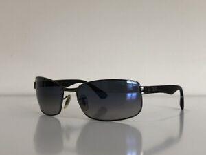 Ray Ban RB 3478 004/78 Aviator Gunmetal Gray Blue Polarized Sunglasses 63-17-130